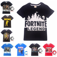 Wholesale 34 colors Baby boys girls Fortnite print T shirts summer shirt Tops Cotton children Tees kids Clothing MMA440