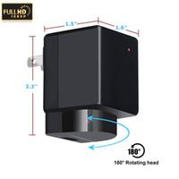 беспроводные адаптеры питания оптовых-HD 1080P Wifi камера USB адаптер питания камеры нет отверстие беспроводное зарядное устройство камеры реальная стена AC Plug зарядное устройство DVR поддержка TF карта