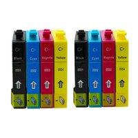 lápiz de impresora al por mayor-8PK T0551 T0552 T0553 T0554 Reemplazo de cartuchos de tinta para Epson Stylus Photo RX420 RX425 RX520 R240 R245 Impresora de inyección de tinta