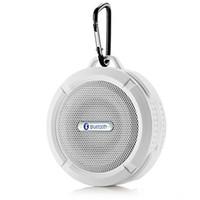 altavoz impermeable de gancho al por mayor-Altavoz C6 Altavoz Bluetooth Inalámbrico Potable Reproductor de audio A prueba de agua Gancho del altavoz y ventosa Reproductor de música estéreo de alta calidad