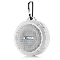 ingrosso audio di qualità-Altoparlante C6 Altoparlante Bluetooth Senza fili Potabile Lettore audio Altoparlante impermeabile Gancio e ventosa Stereo lettore musicale di alta qualità