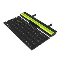 katlanır akıllı telefon toptan satış-Taşınabilir Rollable Katlanabilir BT Kablosuz Klavye Smartphone Tablet Için Katlanır Akıllı Manyetik Anahtarı Bluetooth Klavye
