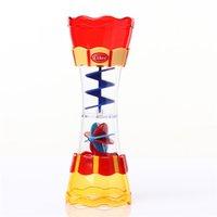 Wholesale kid water toys online - Take Shower Toys Children Kid Play Scoop Water Cup Rotate Flow Observation Plastic Intelligence Development Interest Creative sg V