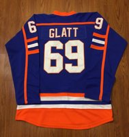b42e2555e Mens Doug The Thug #69 Glatt Halifax Highlanders GOON Movie Hockey Jersey  Vintage Stitched Jerseys Free Shipping