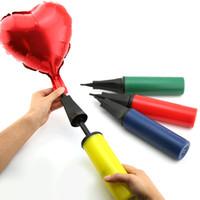 bombas manuais de balão venda por atacado-1 Pc Bomba De Ar Balão Partido Ball Balloon Mão Bomba Para Inflar Balões Dia Dos Namorados Festa de Casamento Suprimentos Decoração