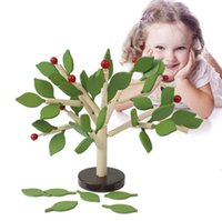 Wholesale diy old toys wooden resale online - 3D Wooden Tree Inserting Leaves Building Block Kids Children DIY Assembly Early Educational Toy