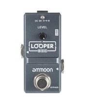 pedal de efectos looper al por mayor-ammoon AP-09 Loop Guitar Pedal Looper Pedal de efectos de guitarra eléctrica True Bypass Overdubs ilimitados 10 minutos de grabación