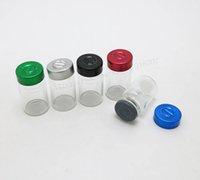injeções de silicone venda por atacado-500 x 6 ML Transparente Transparente Tubular Injeção de Vidro Frascos Com Flip Off Cap Rolha De Silicone De Borracha