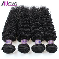 Wholesale kinky hair weave for blacks resale online - Peruvian Hair Indian Kinky Curly Virgin Hair Bundles Cheap A Brazilian Hair Bundles For Black Women