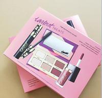 Wholesale halloween mascara - Tarteist 1pcs 6 color eyeshadow+1 pcs mascara+1 pcs lip gloss Fashion combination suit free shipping