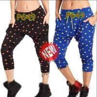 Wholesale Women Harem Capri - women Capri pants Power Cropped Harem Pants Dance YOGA Pants black blue