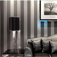 Großhandels-Moderne schwarze Tapete Striped purpurrote und silberne  Glitter-Wandpapier-Rolle für Wand Wohnzimmer Schlafzimmer Fernsehsofa ...