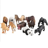 Wholesale monkey plastic toys - Simulation forest wild animals model Alpaca Warthog Chimpanzee sheep Deer Fox Antelope Monkey Gibbon fairy craft figurine toys