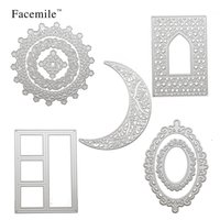 Wholesale handmade paper photo albums - Facemile Scrapbooking Cutting Dies Handmade Embossing Paper Cards Craft Metal Steel Stencils For DIY Photo Album Decoration