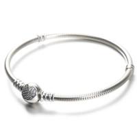 frauen silber armbänder herz großhandel-100% 925 Sterling Silber Damen Armbänder Weiß CZ Micro Gepflasterte Herz Armband mit Box für Pandora Perlen Europäischen Charms
