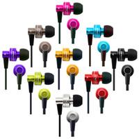 Wholesale clear earphones - Awei ES900i In-Ear Metal Earphone Noodel Flat for Iphone IPOD Samsung HTC Xiaomi,Clear Bass with Mic Headset Headphone
