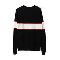 женские свитера пуловеры оптовых-Черный люксовый бренд свитера для мужчин мода с длинным рукавом письмо печать пара кофты осень пуловер свитера для женщин, бесплатная доставка