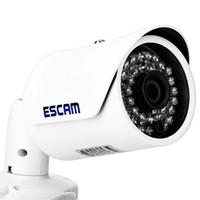 sensor de cámara mp cmos al por mayor-ESCAM Fighter QD320 H.264 Codificación Dual-stream IR Bullet IP Cámara de red HD 720P 1.0MP CMOS Sensor ajustable IP66 a prueba de agua