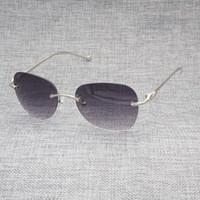 1fb80138978 rimless reading eyeglasses Canada - Vintage Leopar Rimlesses Sunglasses Men Gold  Frame Optical Eyeglasses for Reading