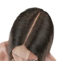 işlenmemiş bakire saç satılık toptan satış-Doğal görünümlü 2x6 Dantel Kapatma Ipeksi Düz Bakire Malezya Üst Kapaklar Parça Üzerinde Ucuz Işlenmemiş Insan Saçı İsviçre Dantel Kapatma