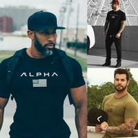 Wholesale exercise shirts for sale - New Summer Designer Shirt Men s Exercise short Running Training Fitness Elastic Short Sleeved T shirt Men Leisure hip hop T shirt
