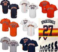 мужской личный оптовых-CUSTOM Hn Astros Mens Женщины Молодежь Индивидуальные трикотажные изделия для бейсбола Majestic Личное имя Личный номер РАЗМЕР S-XXXL