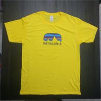 ingrosso maglietta gialla-Magliette estive per uomo Designer T Shirt Summer Skateboard Grigio Giallo Hip Hop Streetwear Magliette S-3XL