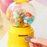 dispensador de dulces al por mayor-Dulces lindos Mini Candy Machine Bubble Gumball Dispenser Coin Bank Juguete para niños Venta en todo el mundo Envío de la gota