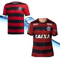 jerseys nombres al por mayor-Camisetas de fútbol de local lejos de casa AAA 2018 2019 CR flamengo número de nombre personalizado GUERRERO 9 DIEGO 10 camisetas de fútbol AAA fotbul
