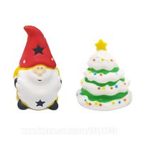 Wholesale squishy charm free resale online - Christmas Tree Squishy Santa Squishies Xmas Slow Rising Phone Pendant C T DHL SQU086