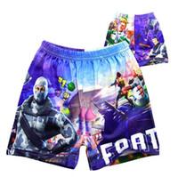 kids summer clothing swim 2018 - 2 Colors Fortnite Summer Shorts Children Boy Kids Clothing Swimming Shorts Kids Beach Short Top Quality Boys Swim Trunks CCA10246 30pcs