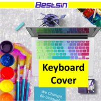 Wholesale 17 waterproof laptop cover resale online - Keyboard Cover Portection Rainbow Silicone Material For Mac Air Pro Retina inch Waterproof Dustproof for US EU version