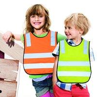 chaleco reflectante para niños al por mayor-Niños Chalecos Reflectantes 5 Colores Chaleco Fluorescente Ciclismo de Seguridad de Tráfico Vial Ropa de Seguridad Chaleco de Tráfico de Casa Ropa 100 unids OOA5963