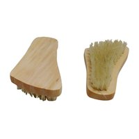 Wholesale Natural Wood Bristle Brush - Wooden Handled Boar-Bristle Brush Face Brush Natural Bristle Wood Hand Beechwood Foot E2shopping LXY9