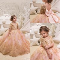 d3202593510 Wholesale vintage flower girl dresses online - Vintage Short Sleeves Lace A Line  Flower Girls Dresses