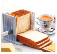 Wholesale cake slicer mold resale online - Cake Cutter Plastic Creative Useful Toast Slicer White Delamination Bread Slicing Device Baking Mold Kitchen Tools High Quality tt Z