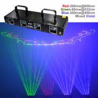 Wholesale dj laser light system - SHINP 4 Lens 7CH DMX 512 RGBP Laser DPSS Scanner Equipment Stage Lighting PRO DJ Party Disco Show System Lights DL-55B