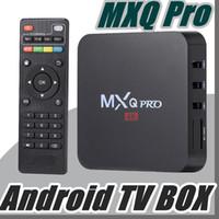 m8s s812 android tv kutusu toptan satış-Android 7.1 TV Kutusu MXQ pro 4 K Dört Çekirdekli KD17.3 8G / 1G Amlogic S905W RK3229 Akıllı TV Kutusu WIFI 3D desteğini D-TH