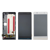 huawei повышать планшета оптовых-Черный белый для Huawei P6 ЖК-дисплей + сенсорный экран Digitizer с рамкой стеклянная панель ассамблеи для Huawei Ascend P6