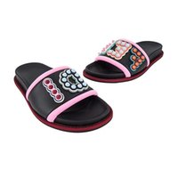 Wholesale best beach shoes - IMPORTANT! 2018 New style Designer Women shoes Flat Sandals Black leather Ladies flip flops Comfortable beach shoes Size35-40 best quality
