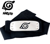 Wholesale naruto cosplay costumes online - 2018 PrettyBaby ANIME Naruto Headband cm Leaf Village Logo Konoha Kakashi Akatsuki Members Cosplay Costume Accessories blue red OTH582