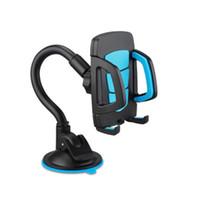 caixa do berço venda por atacado-360 ° Universal Car Windshield Celular Titular Cradle Flexível Suporte de Rotação para o iPhone Samsung Telefones com Caixa De Varejo