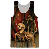 Wholesale 3d sexy shirts for sale – custom O Neck Funny Skulls Tank Tops d Print Bone Daddy Pattern Sleeveless Shirt Striped Vest Sexy Men Fashion Clothing Stringer Singlets Jersey