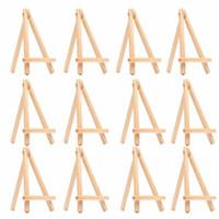 деревянные стенды для показа оптовых-12шт дети мини деревянный мольберт искусство живопись имя карты стенд дисплей держатель рисунок для школы студент художник поставок, (12-Pack)