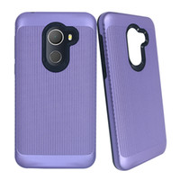 Wholesale zte dual - For Iphone X 8 7 Plus Metropcs Hybrid Brushed Dual Layered Shockproof Armor Phone Case For Alcate A30 ZTE Zmax Pro LG Q6 Aristo 2