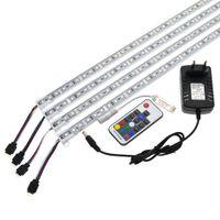 ingrosso ip68 ha condotto le luci della striscia di rgb-LED Bar Light 5050 RGB 50cm IP68 SMD36LED LED Piscina rigida DC 12V con alimentatore Switch