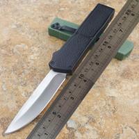kleines selbstverteidigungsmesser großhandel-Blitz automatische Messer BM-Messer (eine Vielzahl von Stilen) Tanto / Drop Klinge Anti-Rutsch-Aluminium-Griff kleine Selbstverteidigung taktisches Messer