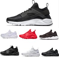 Wholesale air trainer high - High Quality Air Huarache4 Ultra running shoes Triple white black Running trainers for men women outdoors shoes Huraches