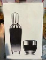 siyah bakım toptan satış-2 adet / takım Ünlü Marka Siyah Şişeler Gelişmiş Nemlendirici yüz kremi 50 ml + 15 ml göz kremi seti aktive yüz ve göz cilt bakımı ücretsiz alışveriş
