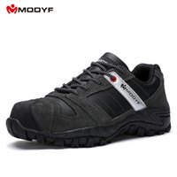 Wholesale Anti Puncture - Modyf Mens Steel Toe Cap work Safety shoe genuine leather casual Anti-kick footwear Outdoor puncture proof boot